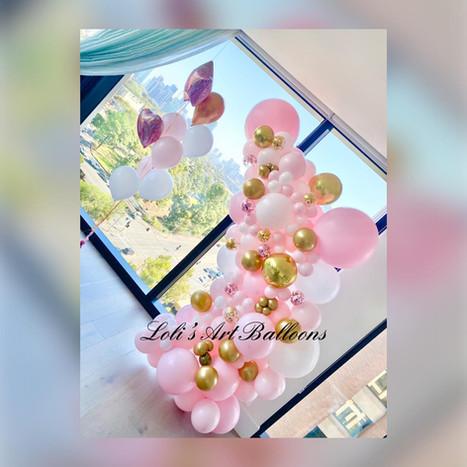 Birthday balloon garland