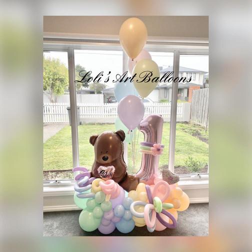 1st Birthday teddy bear pinic persoanlized