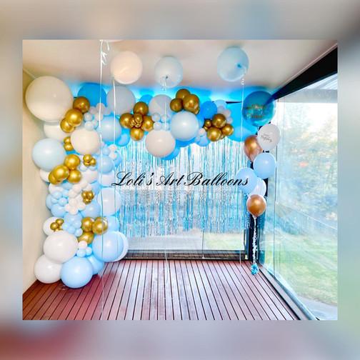1st Birthday Balloon garland