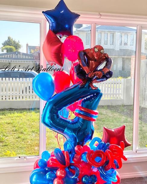 Spider Man grand balloon bouquet