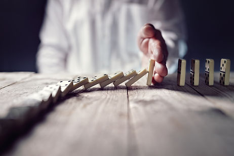 stop-the-domino-effect-concept-for-busin