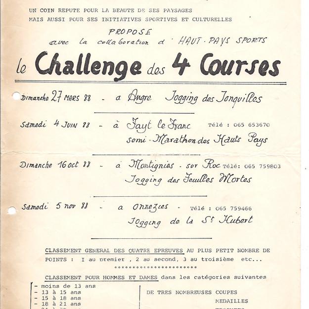 Challenge des 4 courses
