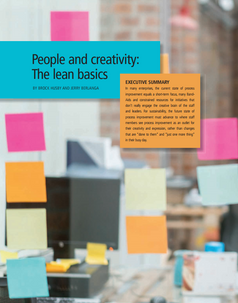People and Creativity: The Lean Basics