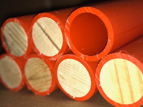 """Plugged 12"""" HDPE Fireworks Mortar Tubes DR11"""