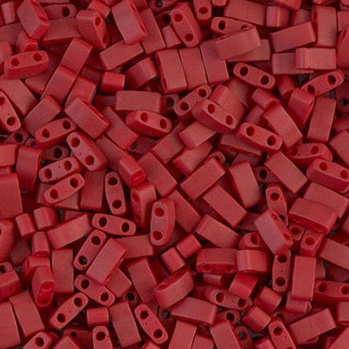 Half Tila Matte Metallic Brick Red (HTL-2040)