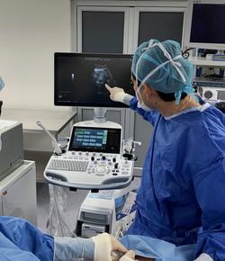 Ablación de tumores hepáticos por por microondas por vía percutánea