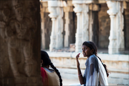 photo story about people and real life in Hampi, Karnataka, India