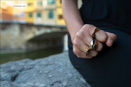 jewelry advertising in Florence, Tuscany, Italy