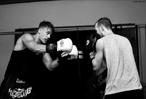 trainings of athletes in Italy, Tuscany, Florence, reportage of boxing
