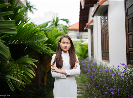 my first photo shoot with the Vietnamese girl (Hoi An)