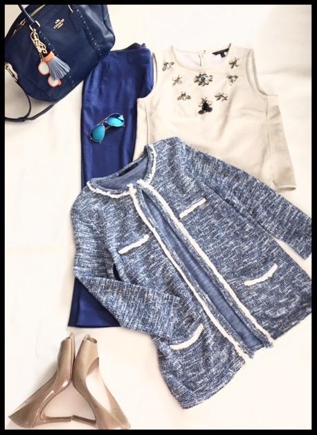 Royal-blue pants: workweek classics