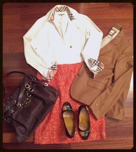 Bright skirt @work