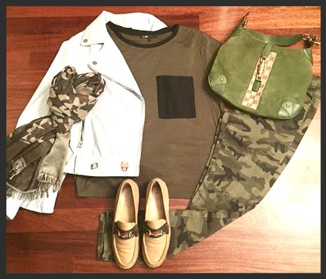 """Camo"" off duty look"