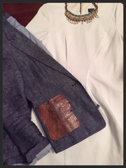 Blazer with a personal touch