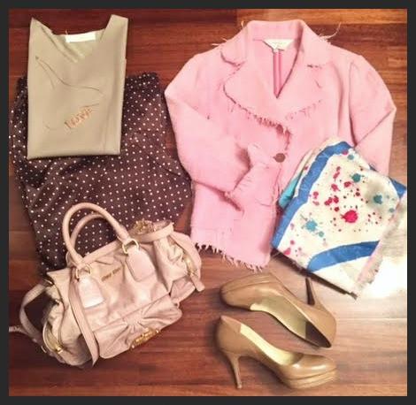 """Rusty Pink"" blazer @work"