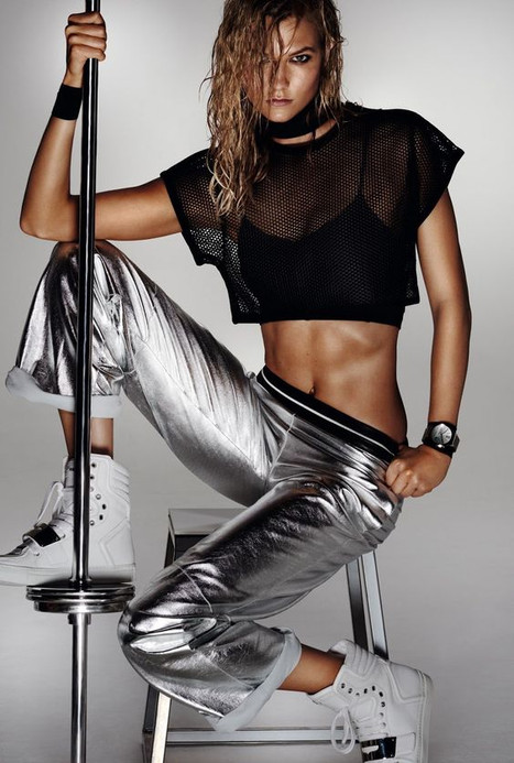 Who said you can't exercise with glam?