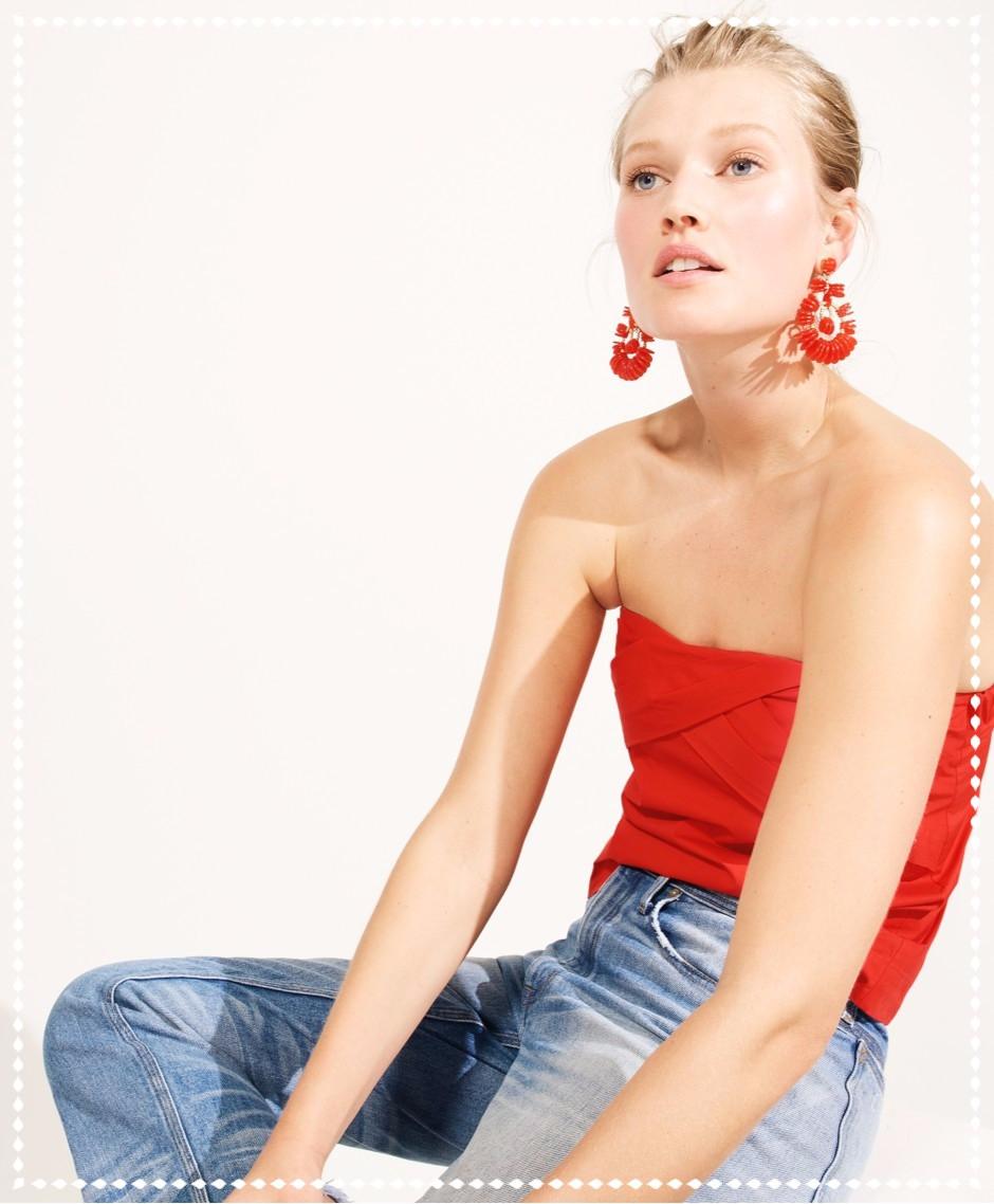 Perfect Pairing: Tops & Earrings by JCrew