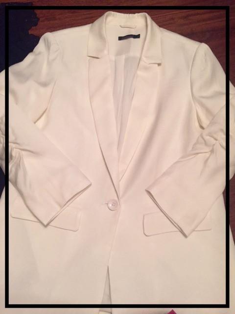Ruched Linen-blend blazer