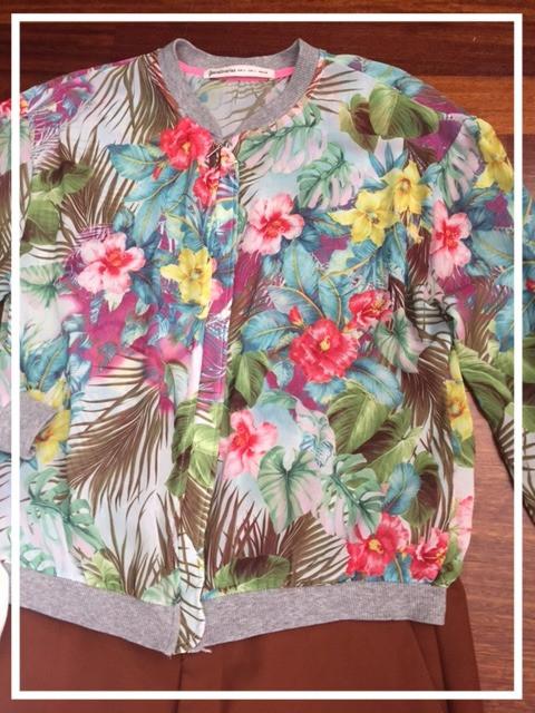 Floral print Bomber