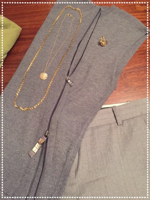 Grey Cropped cigarette pant