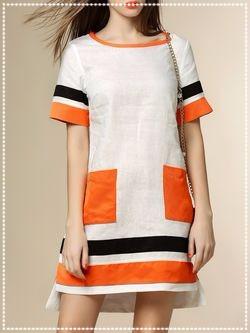Block color dress