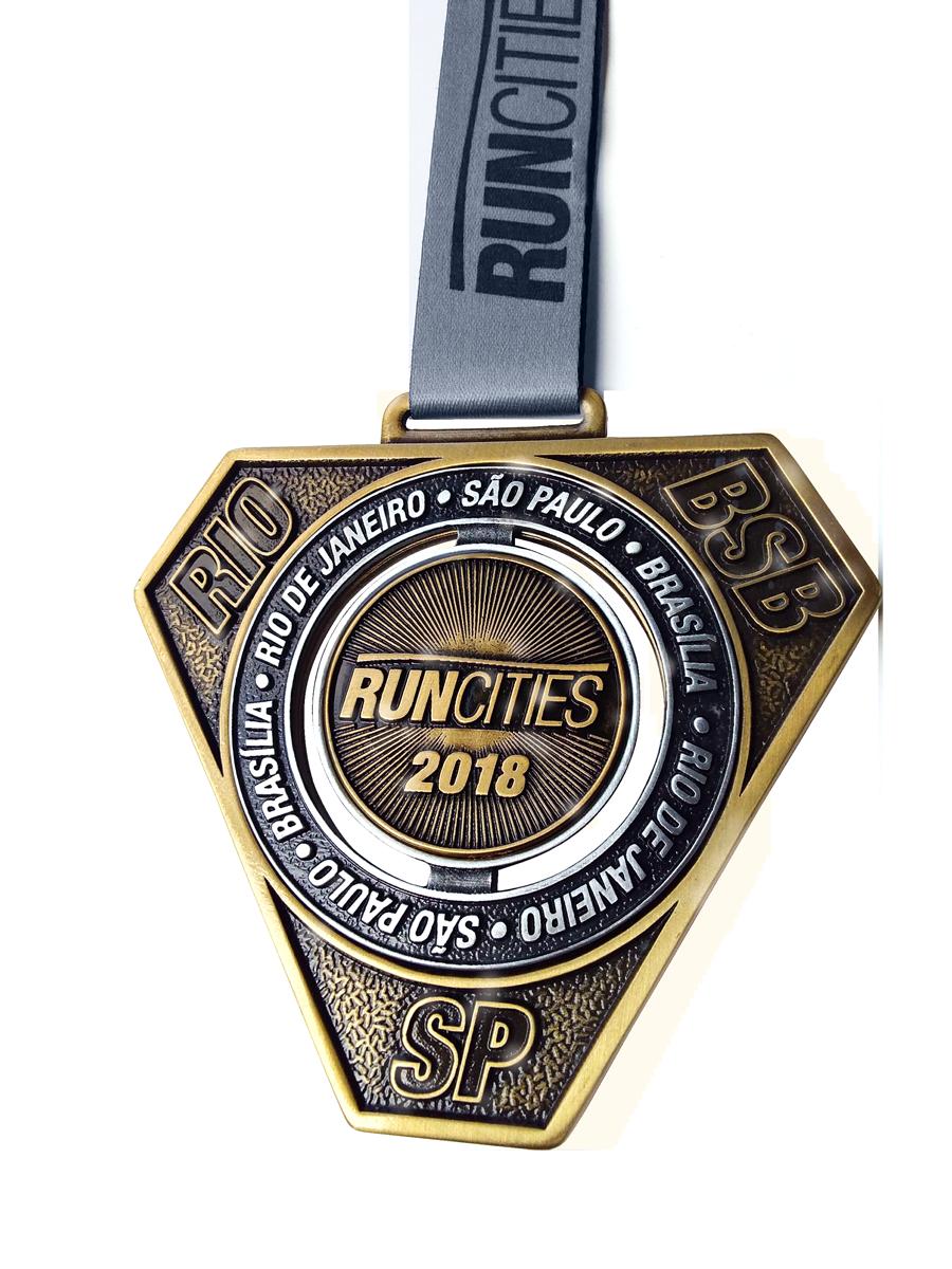Medalha tripla RUNCITIES 2018