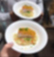 ארוחת שף אסף - סלמון קרסט על מצע ריזוטו