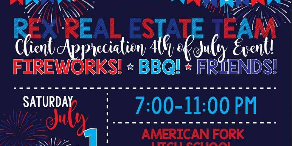 Rex Real Estate Firework Party
