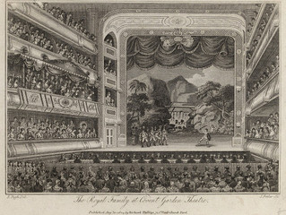 What happened when the old Covent Garden Theatre burned down?