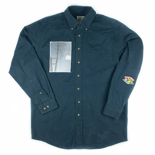 'Puddle' on L.L. Bean button down -M