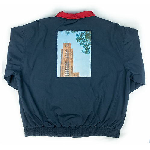 'Cathedral' print on Port Authority jacket - M