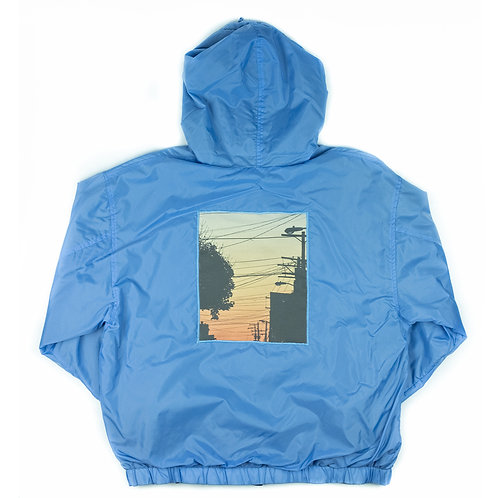 'Powerlines' on blue jacket - S