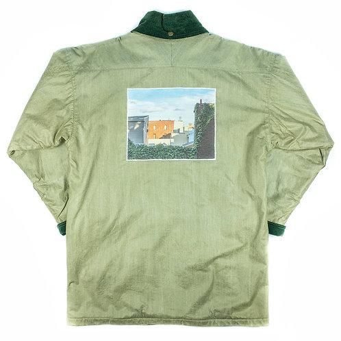 'Backyard' on Woolrich waxed coat - M / L