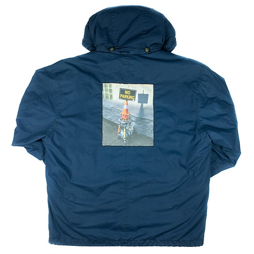 'No Parking' on London Fog coat - L/XL