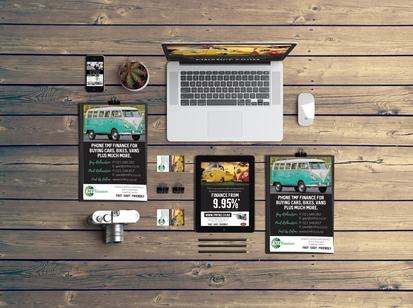 TMF Finance company branding, website & promo material
