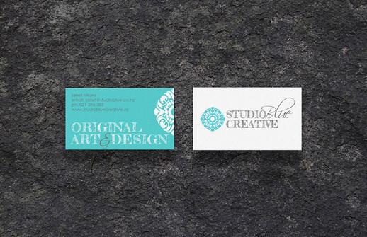 Studio Blue Creative previous  business card concept