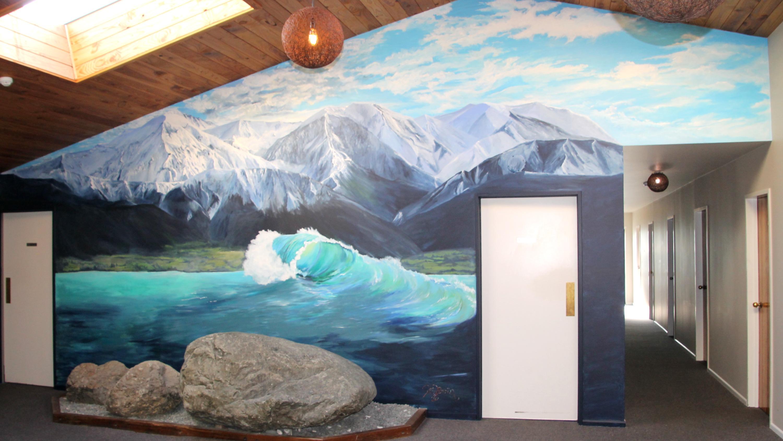 Mural inside Dusky Lodge