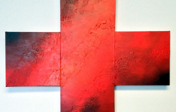Texture medium, acrylic on canvas