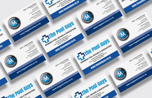 The Pool Guys & Mega Services Ltd business cards