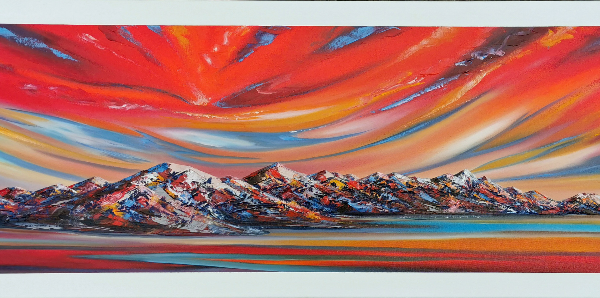 Magical Sunrise Kaikoura_oil on canvas