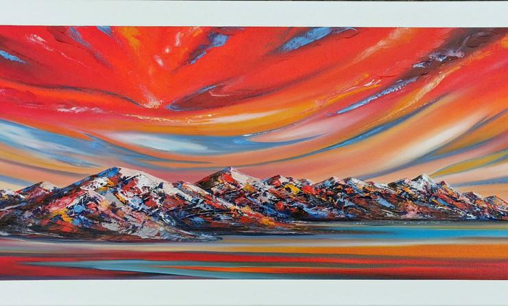 Magical Sunrise Kaikoura_oil on canvas
