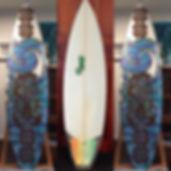 Surf Board Art by Janet Nikora