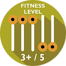 Driftwood Eco Tours Fitness Level Required 3+ / 5