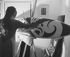 Janet Nikora | Studio Blue Creative | Surfboard Art