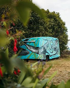 Credit Victoria Firth. Roadside caravan mural, Kaikoura, NZ