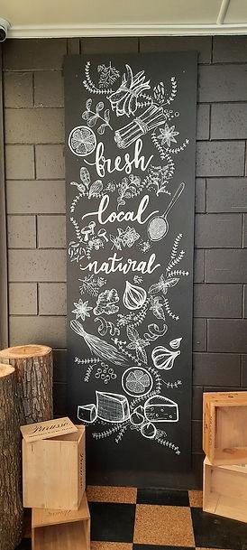 Chalk board signage