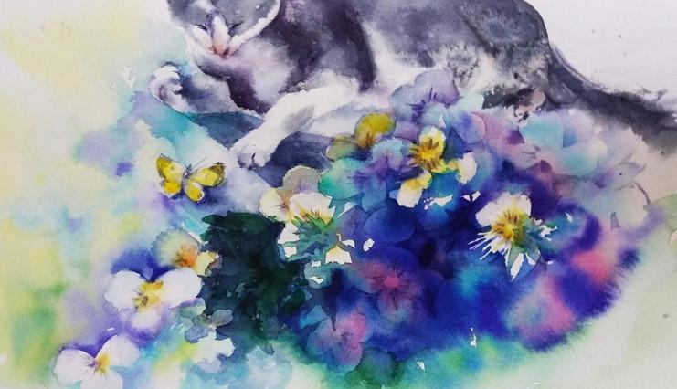 Kuru and Butterfly, watercolour.jpg
