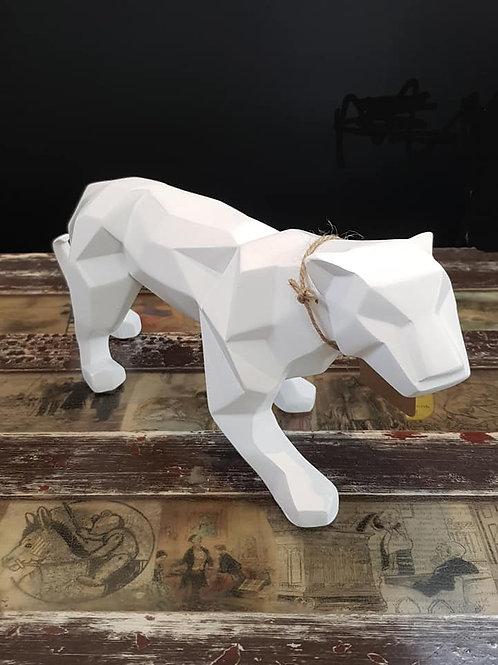 Geometric Panther White