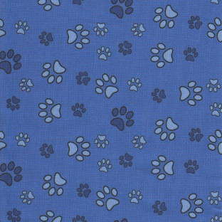 Calming Collars   Mixed Blue Paw Prints