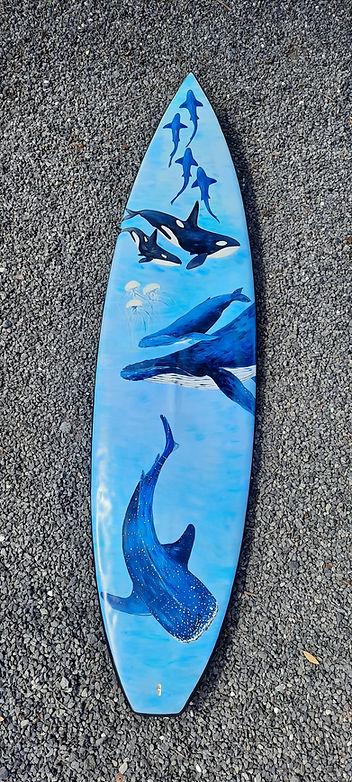 Surfboard Art by Janet Nikora